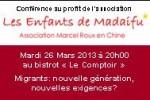 Conférence à Shanghai – Mardi 26 Mars 2013