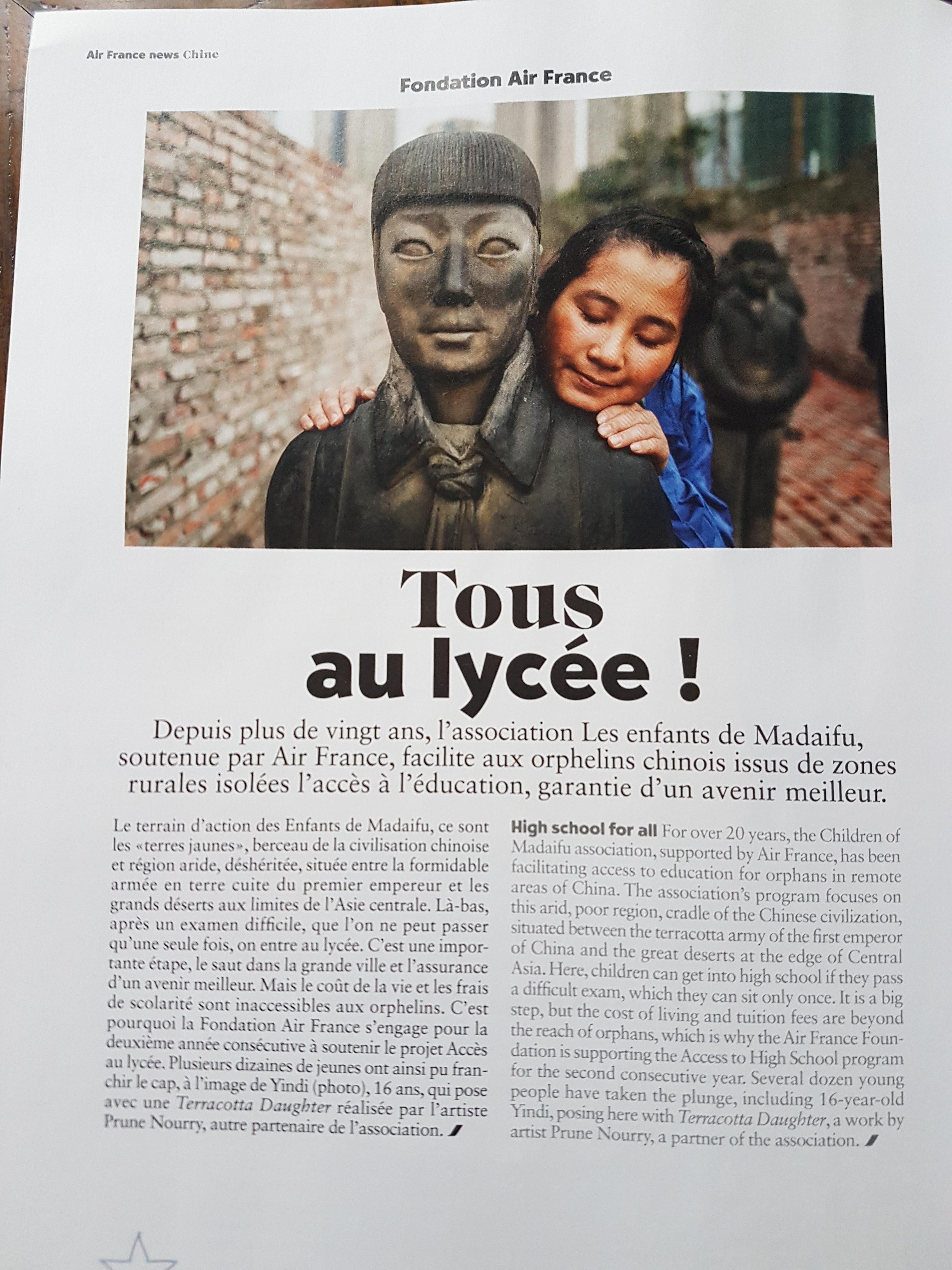 Madaifu à l'honneur grâce à la Fondation Air France